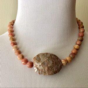 Jewelry - Handmade Marble gemstone Stone Necklace.